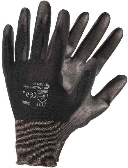 1073 BUNTING ČERNÉ rukavice prac. 7