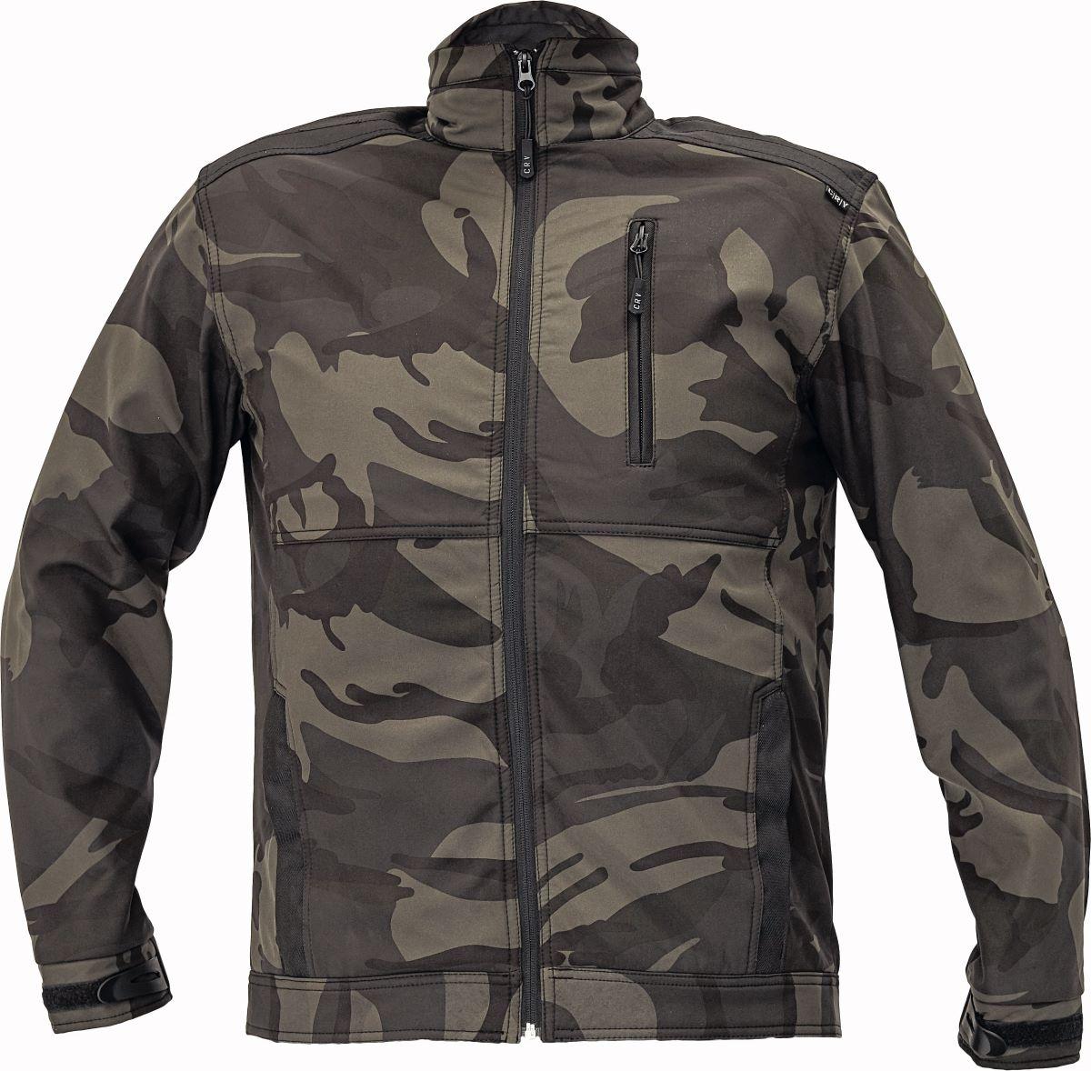 CRAMBE SOFTSHELL bunda camouflage L
