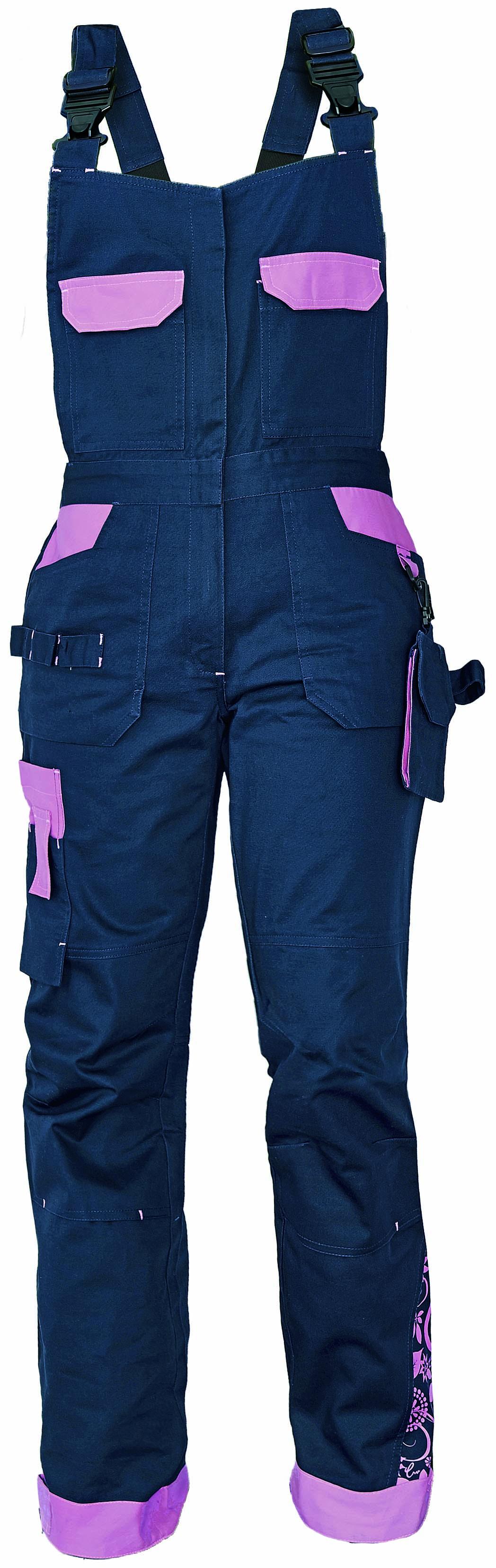 YOWIE kalhoty lacl navy/fialová pracovní 03020208 39 38