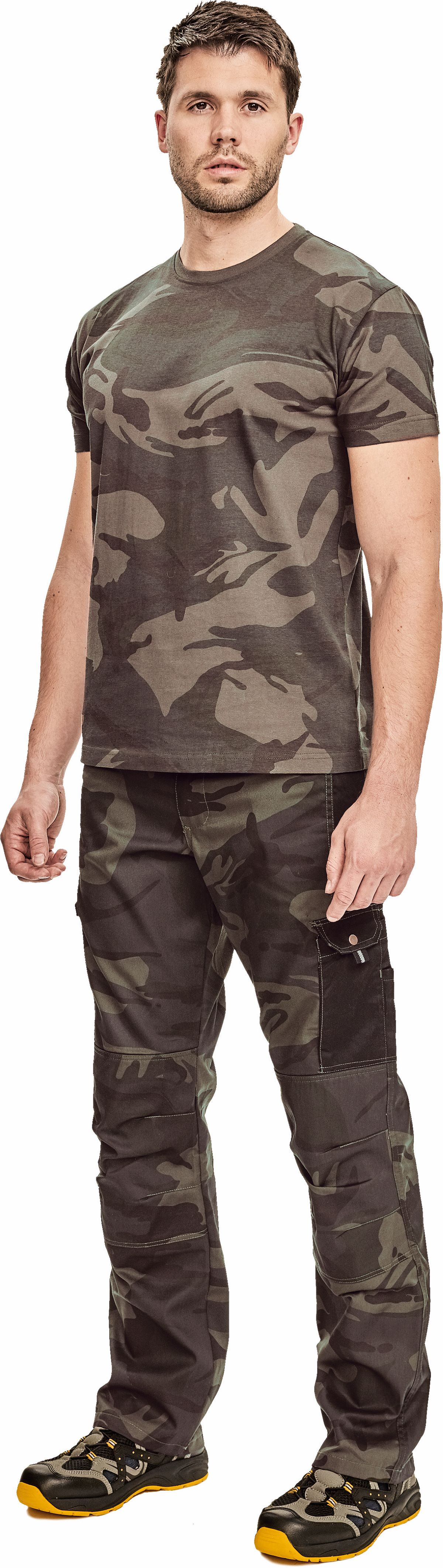 CRAMBE triko pánské prac. camouflage M