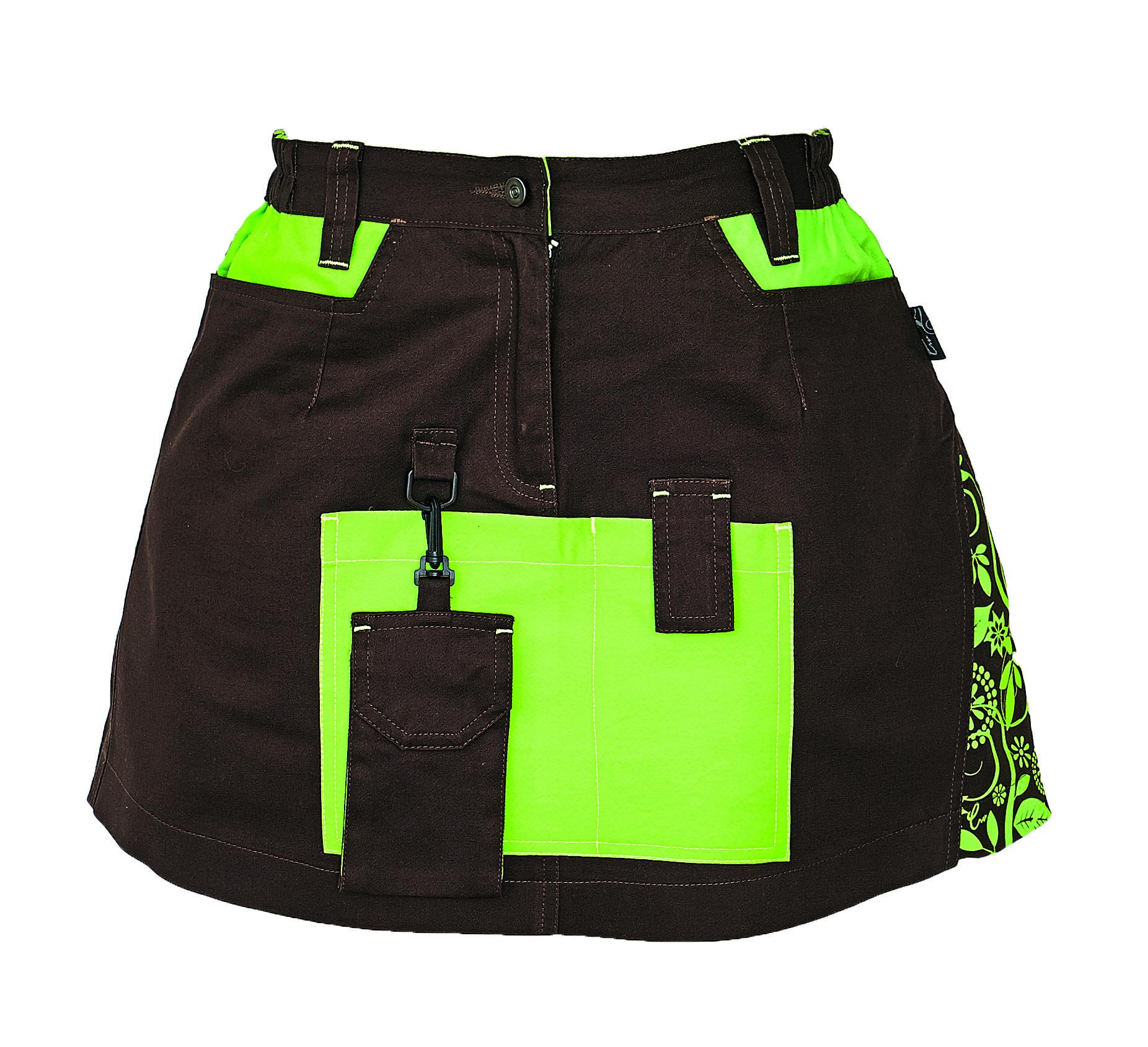 Yowie sukně hnědo-zelená 03200002 87