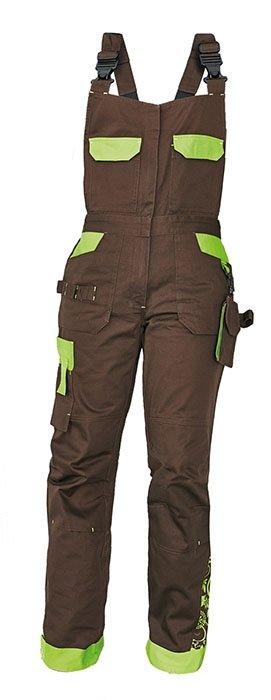 YOWIE kalhoty lacl hnědá/zelená pracovní 03020208 87 40